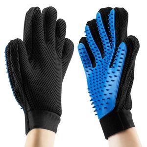 2pcs Silicone Dog Pet Brush Glove Cats Dogs Cleaning Massage Gloves Deshedding Brush Dog Bathing Comb Mesh Pet Grooming Glove