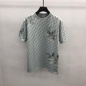 2020ss primavera e l'estate nuovo cotone di alta qualità di stampa manica corta rotonda pannello collo T-shirt Dimensione: m-L-XL-XXL-XXXL Colore: nero x7cc bianco