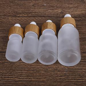 1PC Frost Cam Damlalık Şişe 5ml 10ml 15ml 30ml Kozmetik fo Küçük Parfüm Doldurulabilir Konteyner Şişeleri Esansiyel Yağ Şişeleri Packaging boşaltın
