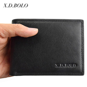 X.d.bolo Genuine Leather Wallet Men Short Leather Purse Fashion Design Small Wallets Men Coin Purses For Man Card Holder Y19052104