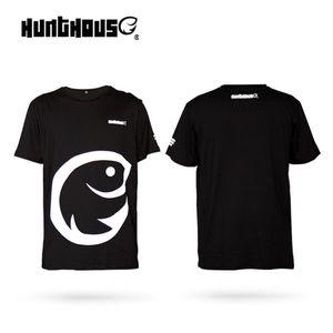 hunt house XL XXL 100% хлопок с коротким рукавом рыболовная одежда Мужские футболки Рыбалка сердцебиение новинка с коротким рукавом Рыбак