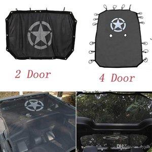 Estilo de la estrella Negro duradero de la cubierta completa de malla sombra Top Parasol protección UV para Jeep Wrangler 2007 -2017 2/4 Puerta