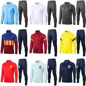 20 21 Испания футбол куртка спортивный костюм 2020 2021 реальная опасность Мадридский Survêtement футбольные куртки спортивный костюм Длинные брюки chandal Спортивная одежда