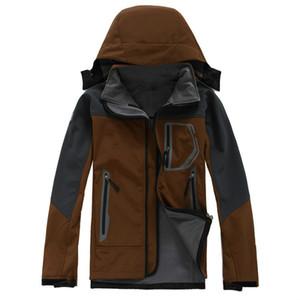 Sudaderas con capucha para hombre al aire libre Chaquetas SoftShell Moda de invierno Apex Bionic A prueba de viento Impermeable Térmico para senderismo Camping Ski Down Abrigos de ropa deportiva