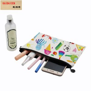 16*23CM white sublimation makeup bags blank cosmetic bags for sublimation printing 100% Linen bag