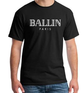 Vêtements pour hommes O-cou Ballin Paris Urbain Mode Graphique Unisexe T-shirt Imprimer Hommes Manches Courtes Tee Shirt
