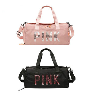 Женщины Блестки Nylon Tote плеча портативного спортзал спорт багаж сумка для путешествий Коммуникатор высокого качества Crossbody сумка
