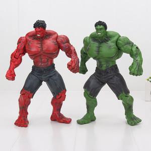 Marvel Infinity Savaş yeşil kırmızı hulk 25 cm superhero şekil Avengers Incredible Hulk eklemler hareketli eylem model oyuncaklar