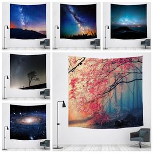 침실 벽걸이 장식 폴리 에스테르 홈 개선 태피스트리 요가 비치 매트를 들어 별이 빛나는 하늘 인쇄 태피스트리