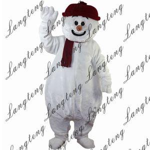2018 nouveaux de haute qualité bonhomme de neige costumes de mascotte pour adultes cirque de Noël Halloween Outfit Fancy Dress Costume gratuit Shipping021