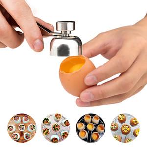 Accessoires de cuisine ouverte Outils d'oeufs en acier inoxydable Egg Scissor Egg Topper Cutter Shell Ouvre complète coquille d'oeuf cuisine Gadgets