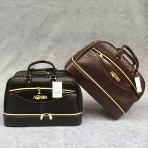 ارتفاع نهاية HONMA جولف بوسطن حقيبة المرأة نسج جلدية جولف الملابس حقيبة للرجال