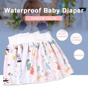 Новый детский водонепроницаемый юбка подгузника может быть промыта водонепроницаемым подгузником Высокая талия защита живота спящая моча кровать четыре сезона унисекс