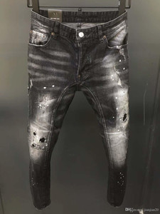Итальянский модный бренд D2O18 новые джинсы дикие мыть носить эластичные ноги джинсы мужские удобные тенденции Авангарда