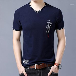 Tees High Quality Summer Young T Shirts Tees Cotton Mens Designer T Shirt V Neck Men