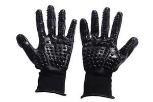 1PCS Pet Grooming перчатки Left Right Enhanced Five Finger дизайн Резиновые Чистки перчатки Собака Кошка Пролить Кисть Pet Cleaning перчатки