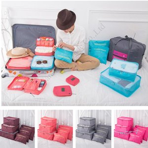 Travel Makeup Bag 6piecs Set Waterproof Travel Storage Cloth Sorting Bag Set Bra Underwear Luggage Organizers Storage Bags E11304
