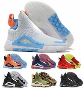 N3xt L3v3l Çorap Basketbol Ayakkabı Kayan Amerika Şok Kırmızı Beyaz Yüksek 2019 Yeni Geliş Erkek Adam Çizme Des Chaussures De Marque Ayakkabı