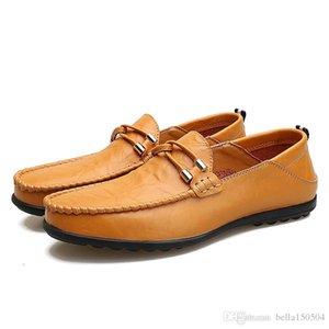 хорошее качество Mens натуральной кожи роскошного дизайну замша мокасины обувь официальной нежная мужские платья ходьба обувь комфорт вскользь дыхание обуви