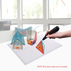 다목적 3D 인쇄 펜 템플릿 Fingerstalls와 부드러운 실리콘 매트 3D 드로잉 템플릿 복사 보드