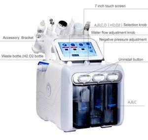 6 en 1 H2 O2 Hidráulica Dermoabrasión Agua Oxígeno Jet Pelar Hidra Piel Scrubber Belleza facial Limpieza profunda RF Elevación de cara Frío Martillo