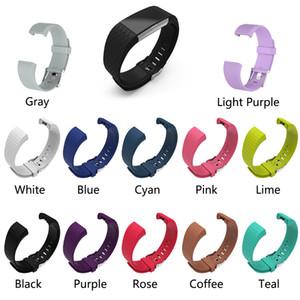 Cinturino in TPE di ricambio in silicone 3D con cinturino in silicone per Fitbit Charge 2 Orologio cinturino cinturino da polso classico neutro intelligente
