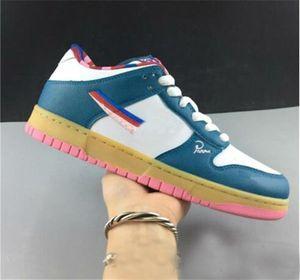 Venta caliente Parra X SB Dunk Low OG Designer Shoes hombre Womans artista Parra Resumen Ejecución Blanco Verde Rosa zapatilla de deporte de moda