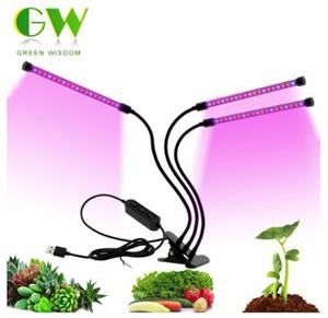 الطيف الكامل الصمام نمو الخفيفة DC5V 3W 9W 18W 27W مرنة كليب USB التيار الكهربائي سطح المكتب ضوء نمو النبات على النبات زهرة مصباح
