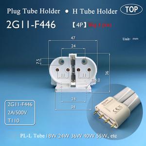 2G11-F446 / B lâmpada fluorescente Titulares H Tubo 4Pin lâmpada de base de topo Luz Tomada de Tabela tubo da lâmpada PL-L tampa do tubo