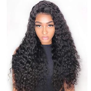 인기있는 빅 바디 웨이브 곱슬 인간의 머리 가발 표백 된 매듭 전체 레이스 가발 브라질 말레이시아 중간 크기 스위스 레이스 캡 레이스 프런트 가발