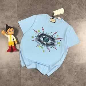 20ss New luxurious brand designer fashion Hot drill big eyes print Tshirts Crewneck Tee Breathable Shirt Streetwear Outdoor Tshirt 7.1