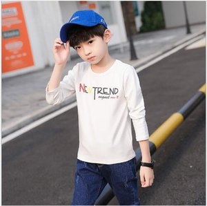 New brand children's long sleeve T-shirt round neck spring and autumn suit western style letter casual top