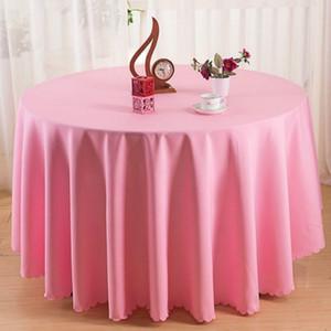 Sólido cor roxa Vinho Tinto lavável casamento Toalha de Mesa Para Rodada Fable Partido Banquet Mesa de Jantar Decoração Tampa