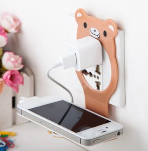 500pc Creative Convenience Folding Hanging Mobile Phone Bracket Promotional Gifts Multi-function 12*10cm Home Companion Charging Holder DHL