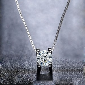BOEYCJR 925 0.5ct / 1ct / 2ct Colar Pingente F cor Moissanite VVS casamento elegante do por Mulheres aniversário presente CX200609