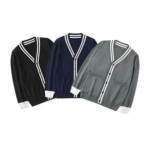 Casual Mens Стилист свитера высокого качества зимы свитер куртка Мужчины Женщины Мода ретро трикотажные свитера Толстовка