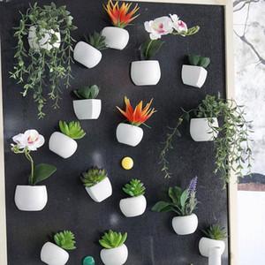 Simüle Buket Çiçek Buzdolabı Sticker Sulu Bitki dolabı Magnet Mıknatıslı Saksı Bitki Ana Sayfa Duvar Süsleme LJJ_OA5858