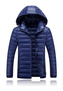 Mens Spesso Plus Size Giù-Ha riempito il cappotto di modo di inverno caldo Solid Parkas designer colore Zipper incappucciato allentato maschio di Down
