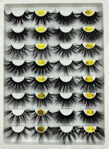 100% Handmade Customize Packing 3D Mink Lashes 25mm Extra Long Mink Full Strip Eyelashes Fluffy Eyelashes For Make Up
