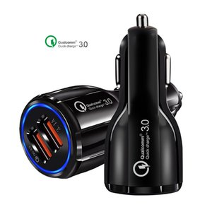 Adapter universal 12V 3.1A mobile Cell Phone charger 18W USB Fast charger dual port QC3.0 Car Charger Dual usb