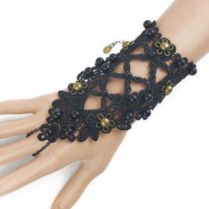 Frete grátis 10pcs Mixed moda feminina de dança do punk crânio Jóias Designer de jóias de luxo da cadeia pulseira Lace Lolita S89