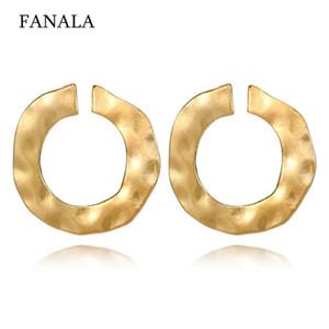 Fashion Geometric Women Pierced Casual Push Earrings Gold Silver Shape Back Hoop