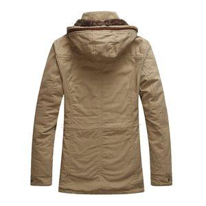MEN'S WEAR Men Jacket Autumn New Products MEN'S Casual Jacket plus Velvet plus Cotton Hooded Washing Jacket