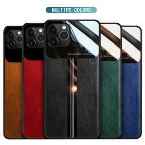 Case for iphone 11 pro max Pu leather Mirror glass Phone Case for iphone xs max xr x 8 7 6 Plus Se 2020 Protect Back Cover Coque