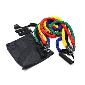 11-Piece Combination Puller Fitness Equipment Set Puller Latex Pull Rope Elastic Band Set Heavy Protection Nylon Cover