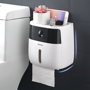 Tissue Paper Box Titular Wall Mounted Papel Higiênico Dispenser criativa Plastic Box Bath Toilet Paper Holder armazenamento