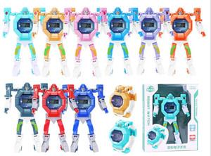 Cartoon Robot Transformation Toy Avengers Montre-bracelet Super Heroes Hulk Iron Man Spider Man Figure Enfants électronique Toy Watch