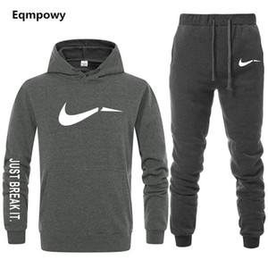Men's Tracksuit 2 sets of new fashion jacket sportswear men's sweatpants hoodies spring and autumn  hoodies pants