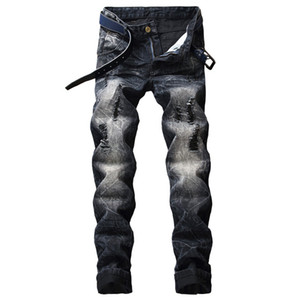 Fairy2019 Foreign For European Male Trous European Doed Self-cultivation Directement Canister Jeans pour Hommes