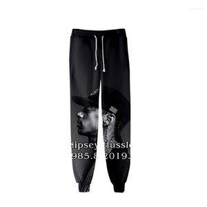 Printed Designer Mens 3D nipsey hussle Jogger Pants Spring Teenager School Sports Casual R.I.P Pencil Pants